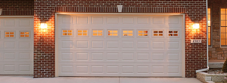 Lighted up garage